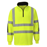 Portwest Xenon Rugby Sweatshirt Hi-Vis Yellow