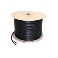 Labgear 100m Black RG59 + 2 Core Power Cable