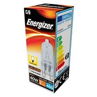 ENERGIZER ECO HALOGEN 28W (40W) G9 CLEAR CAPSULE LAMP BOXED