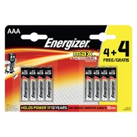 Energizer AAA Battery 4+4