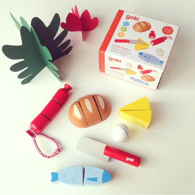 Wooden set of toy food