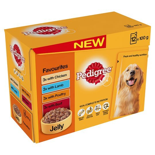 Pedigree Pouch Favourites in Jelly 2 x 24 x 100g