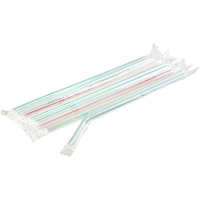 Flexi Straw 6 x 203mm Wrapped Pkt 100