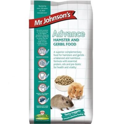 Mr Johnson's Advance Hamster & Gerbil Food 750g x 6