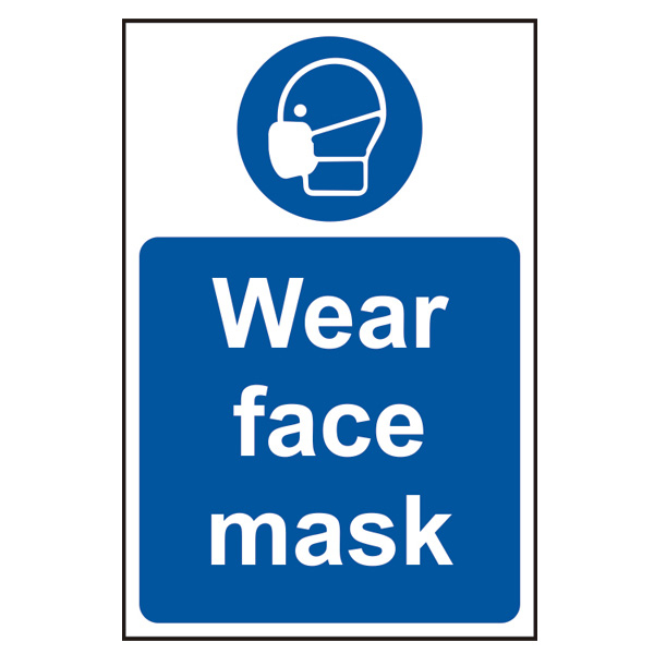 'Wear Face Mask' Sign, SAV, 200 x 300mm