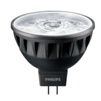 7.5W- (43W) PHILIPS  MASTER VALUE  MR16 24 DEGREE 2700K WW 485 LUMEN 40,000 HOUR DIMMABLE