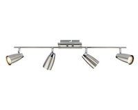 Loft 4 Light Low Energy Bar, Satin Chrome and Polished Chrome | LV1802.0037