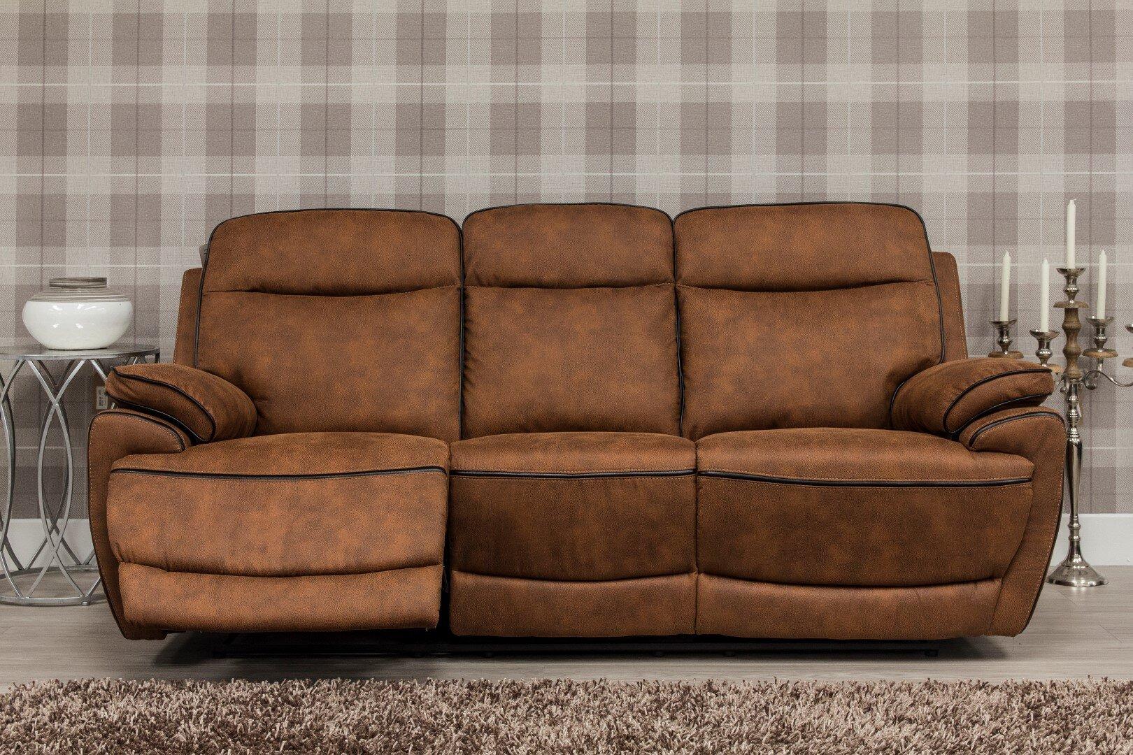 Lotus Fabric Sofa - Brown 2