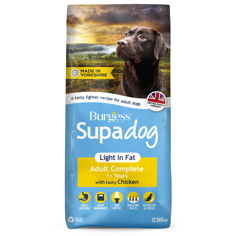 Burgess Light Adult Dog Rich in Chicken 12.5kg