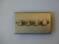 400W 4 Gang 2 Way Dimmer Satin Chrome