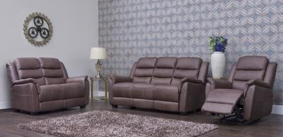 Vivo Brown Fabric Sofa 2