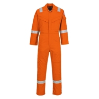 Portwest Flame Resistant Anti-Static Coverall 350g Orange