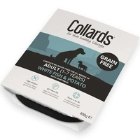Collards Trays - Adult Dog Grain-Free White Fish, Potato & Veg 400g x 7