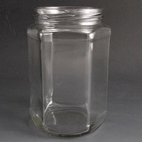 720ml hexagonal jar