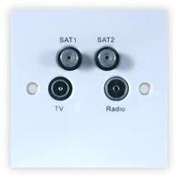 TV/Radio/Sat/Return Wall Plate (304109)