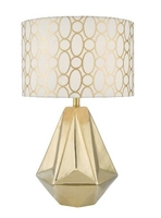 Pasadena Table Lamp, Gold Complete with Shade | LV1802.0142