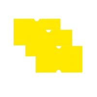 CT1 Price Label Yellow 50k Peelable
