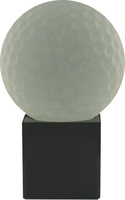 15cm Crystal Award with Golf Ball | TC30