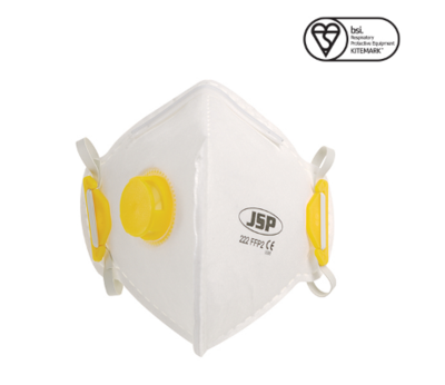 JSP BEB120-101-A00 DISPOSABLE FOLD FLAT FFP2V MASK (222) BOX QTY 10