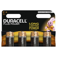 Duracell Plus MN1400 C Battery 4pk