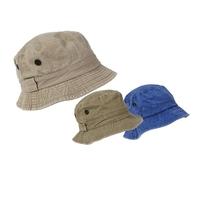 Mens Bush Hat Washed Denim Asstd Cols 58-60cm