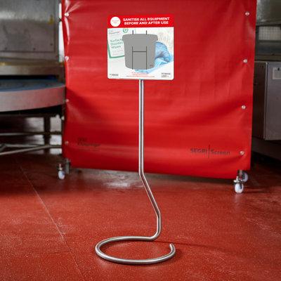 Mobile equipment sanitiser station - single wipe dispenser