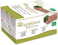 Applaws Cat Foil - Pate Multipack Country Fresh Chicken, Lamb & Salmon x 7
