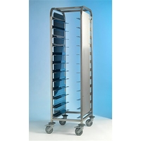 Tray Clearing Trolley Stainless Steel 1x12 with Side Panels