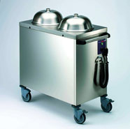 Plate Lowerator Heated Twin Stack Mobile up to 130plates