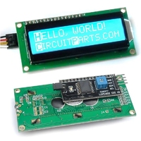 1602 LCD CHARACTER MODULE DISPLAY BLUE WITH I2C ADAPTER MODULE