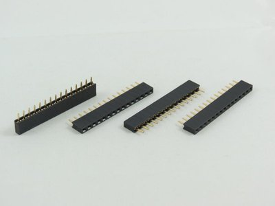 35 position PCB Socket 2.54mm Pitch Through Hole Single Row Right Angle