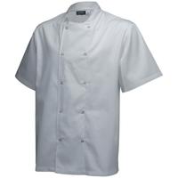 Stud Jacket White Short Sleeve Large 112-116cm