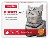 Beaphar FIPROtec Cat Flea Drops - 1 Tube x 1