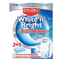 Dylon White N Bright+ Oxi Stain Removal 2 sachet