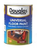DOUGLAS UNIVERSAL FLOOR PAINT TILE RED 5 LTR