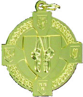 40mm Irish Dancing Medal (Gold)