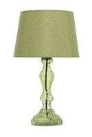 Fontana Table Lamp, Green Complete with Natural Cotton Shade | LV1802.0134