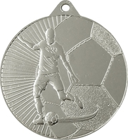 45mm Soccer Player Medal (Silver)