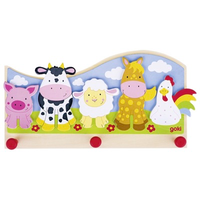 Farm animals children's coat hook