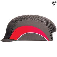 Hardcap A1+ 2.5cm Micro Peak - Grey/Red