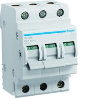 Hager SBN363 Isolator Switch 63A 3 Pole