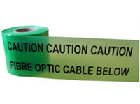 CAUTION FIBRE OPTIC CABLE BELOW WARNING TAPE 150MM X 365M