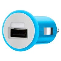 USB Universal Car Charger Adapter, Blue 1A