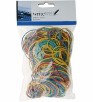 Koop Coloured Elastic Bands 100g
