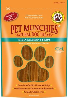 Pet Munchies Dog Treats - Wild Salmon Strips 80g x 8