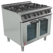 6 Burner Dual Fuel Fan Assisted Oven Gas 700x535x430mm