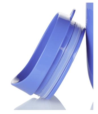 Blue dining mug lid