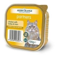 Arden Grange Partners Cat Trays Chicken, Turkey & Ham 100g x 16