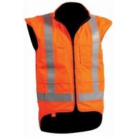 Bison Rigour Hi Vis Day/Night Fire Retardant Vest