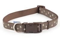 Ancol Nylon Adjustable Collar - Mocha Polka 45-70cm Size 5-9 x 1